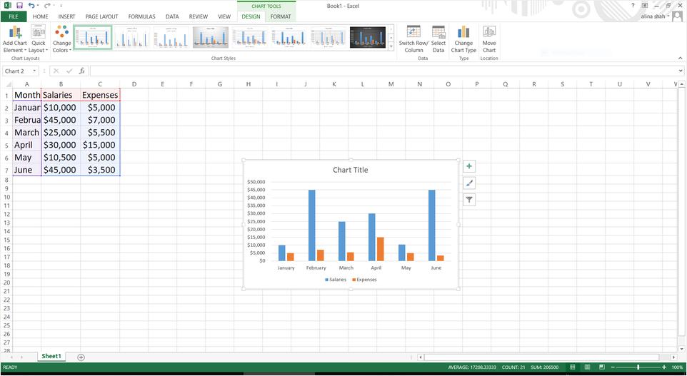 customize column chart