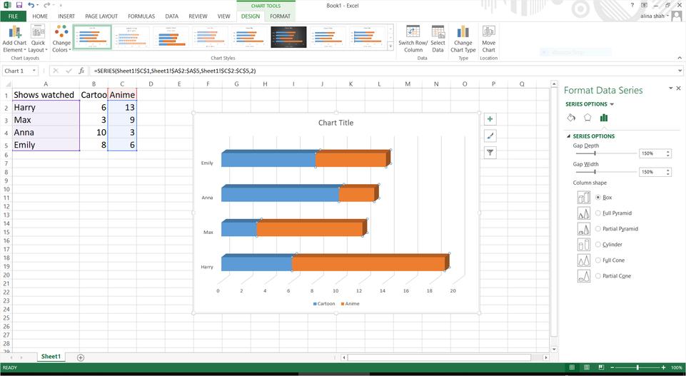 customize bar chart