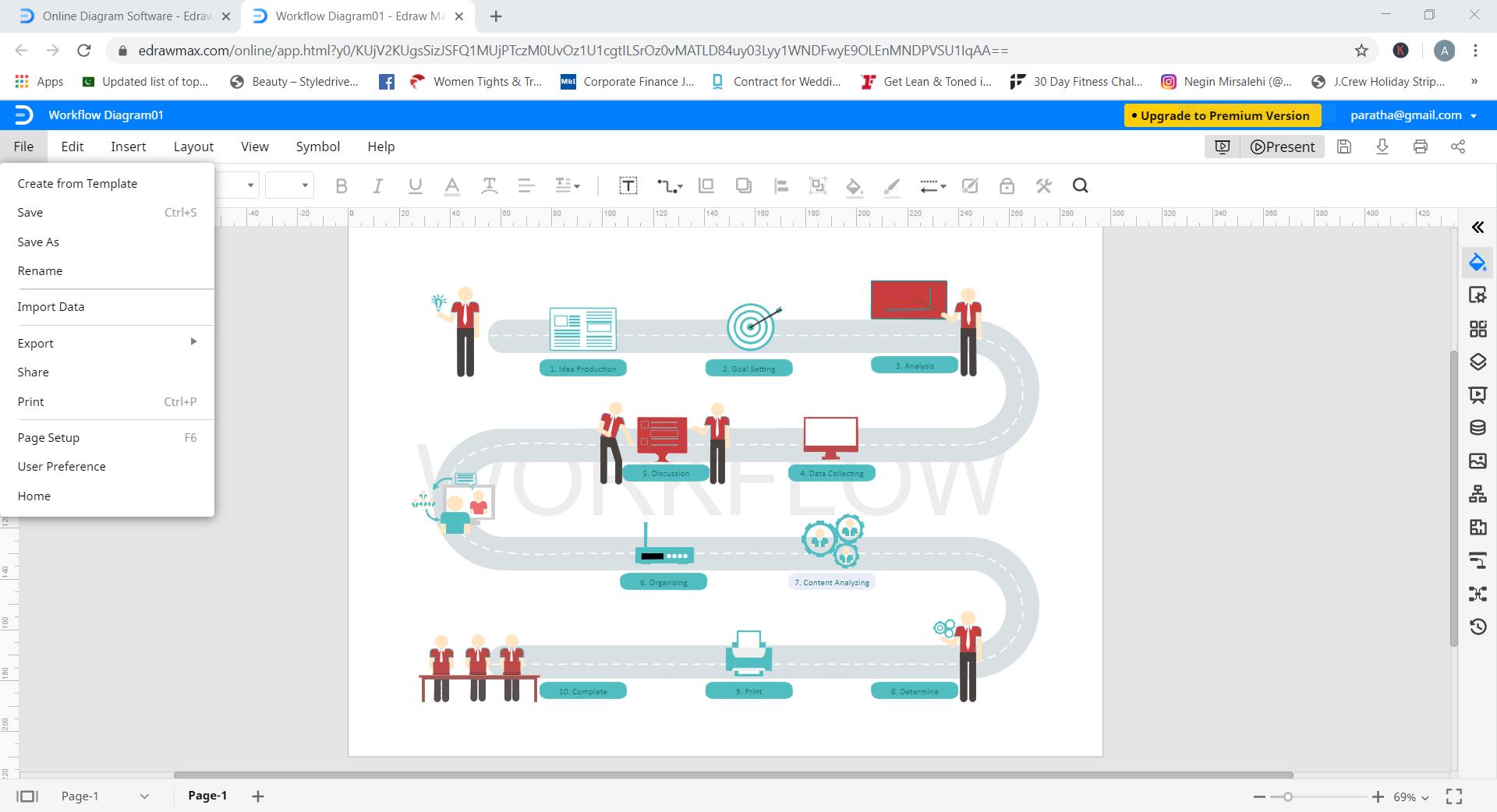 save export workflow