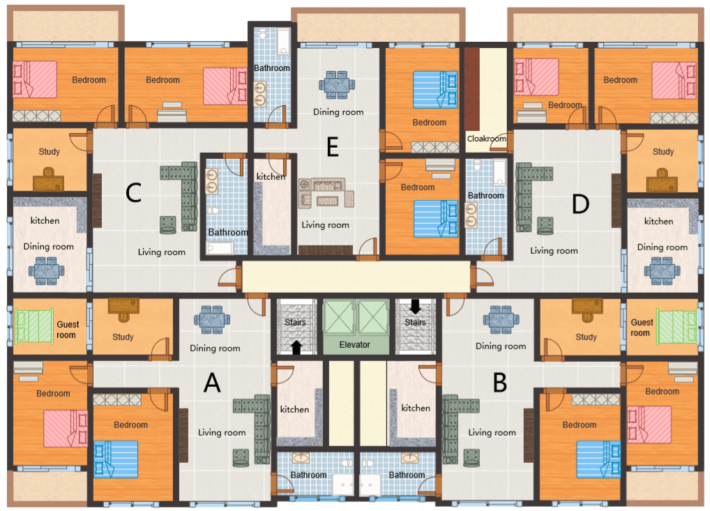apartment floor layout