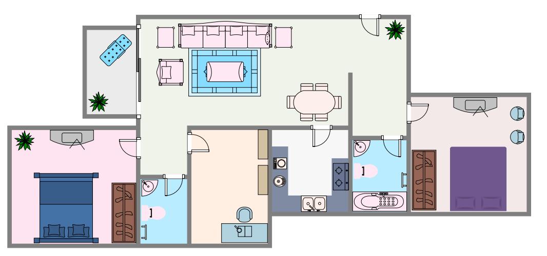 color house plan