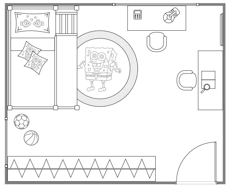 kids bedroom layout