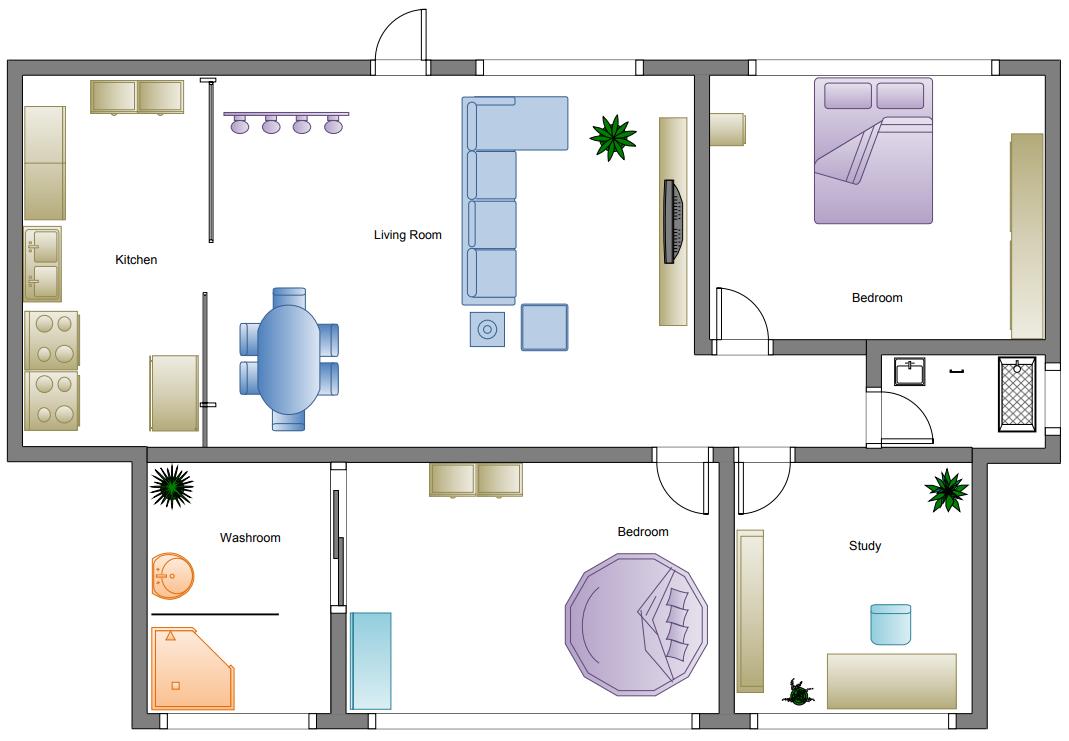 simple home floor