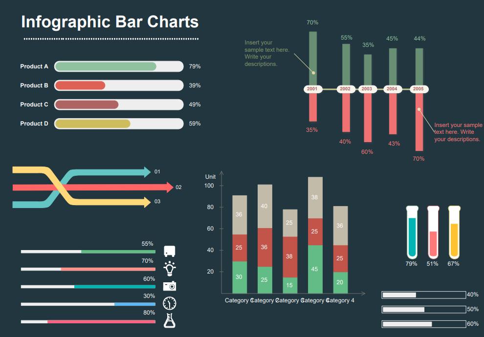 infographic bar chart template