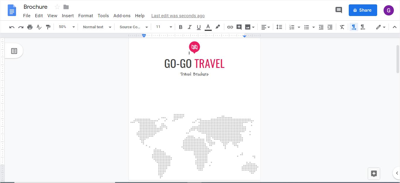 brochure in google docs