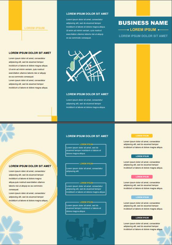 business report brochure