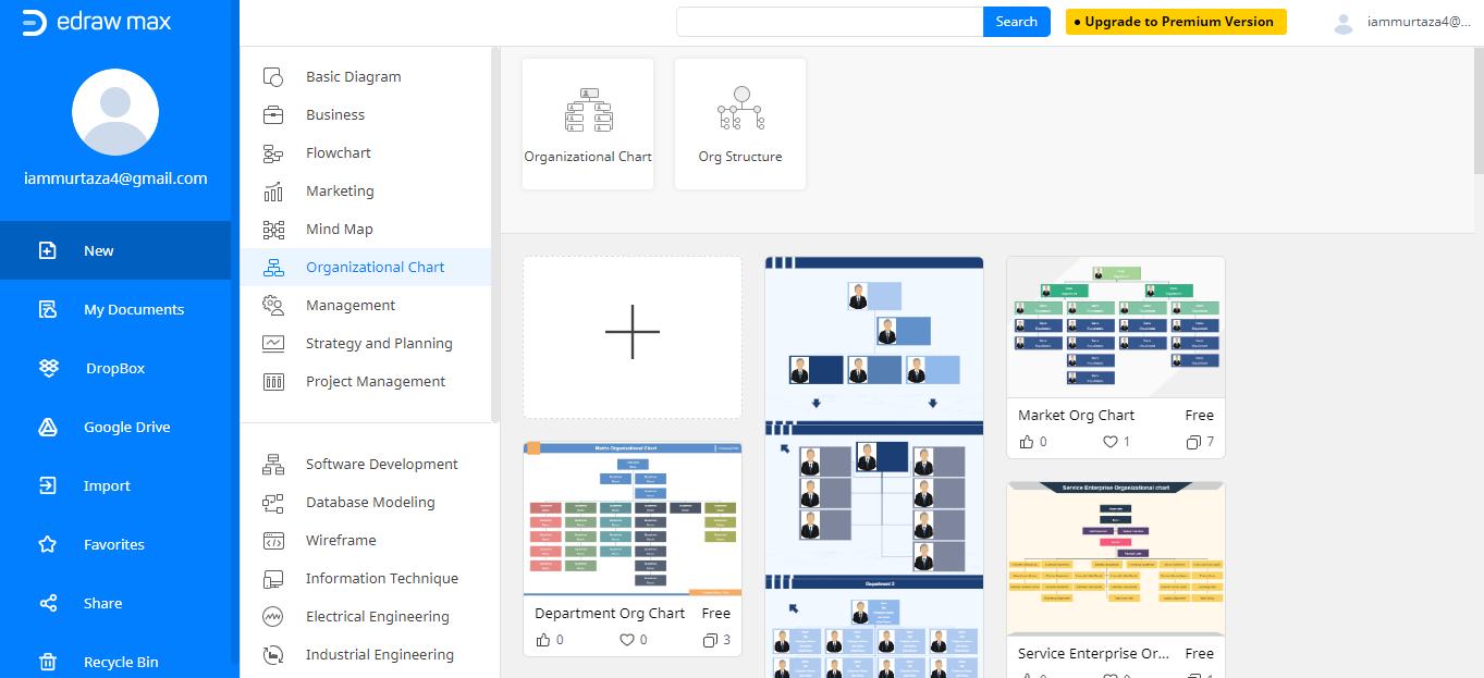 find organizational chart
