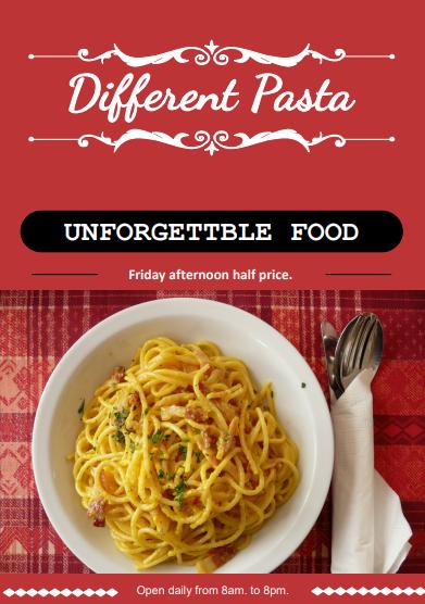 pasta restaurant flyer