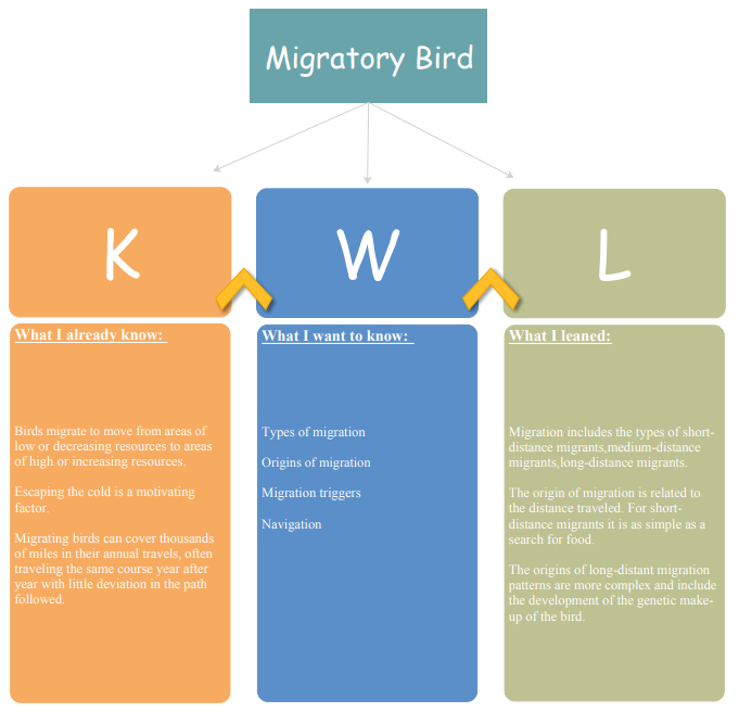 kwl migratory bird