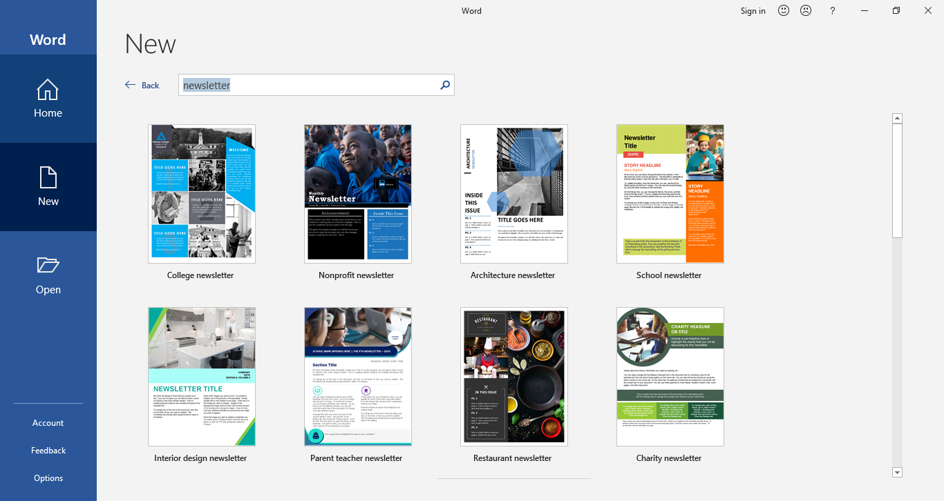 newsletter template in word