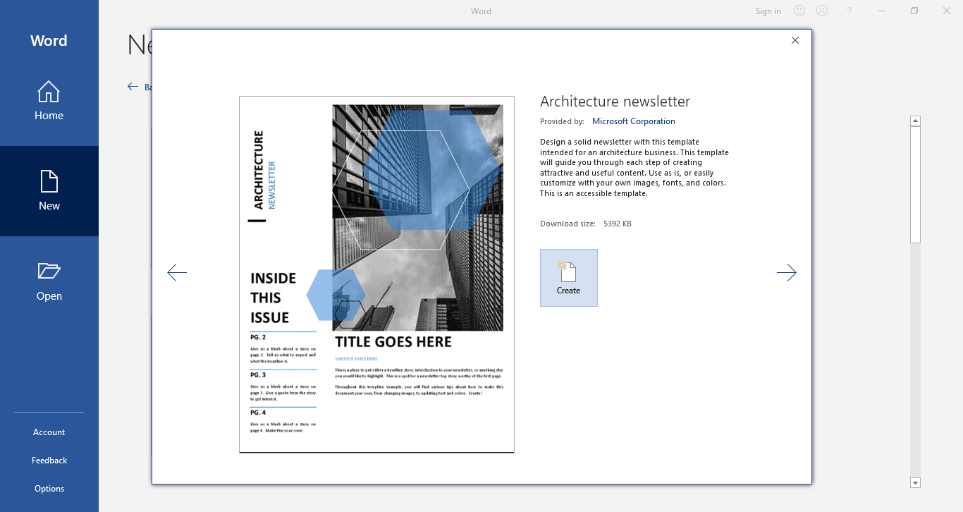select newsletter template