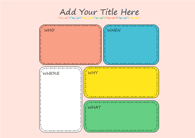 colorful 5ws storyboard