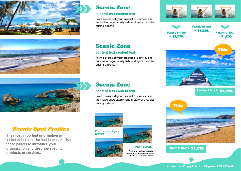 travel agency sales brochure