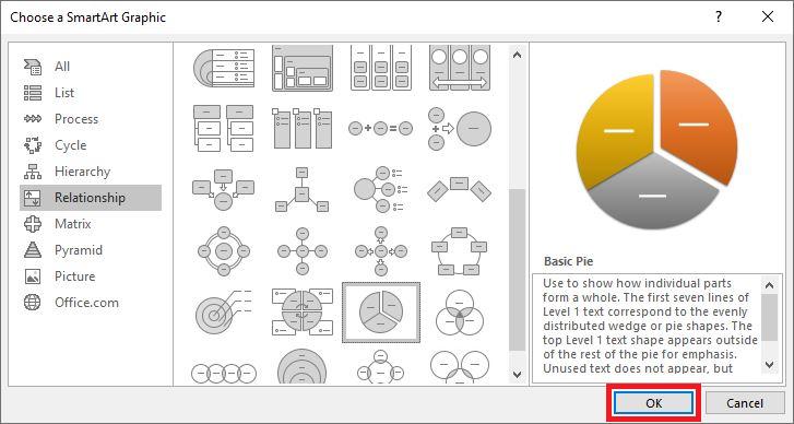 smartart graphic window