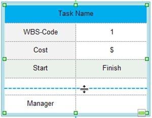 create wbs change size