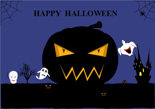 big pumpkin halloween card