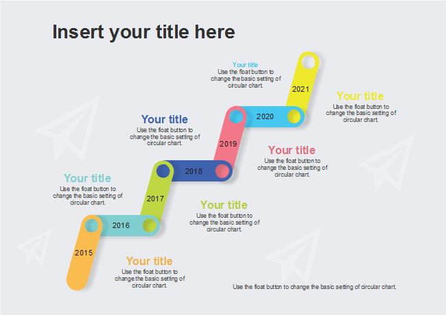 colorful upward timeline