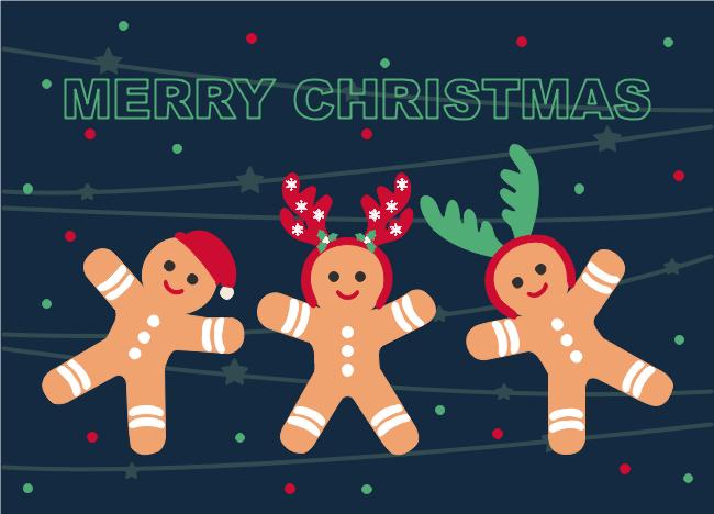 ginger bread christmas card