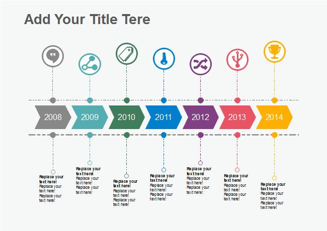 horizontal arrow icons timeline