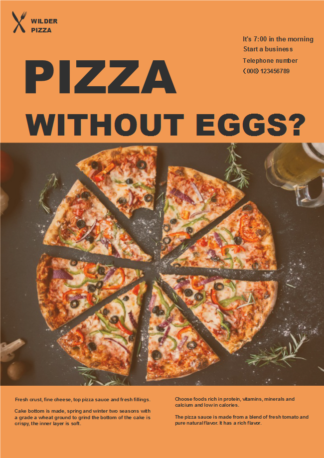 pizza shop poster