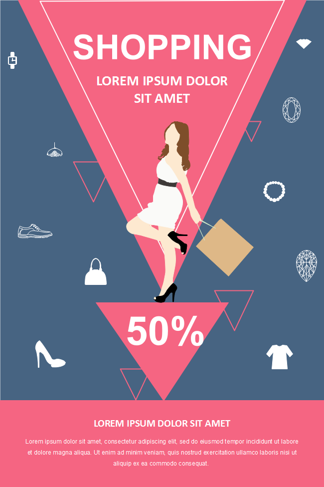 shopping lady poster