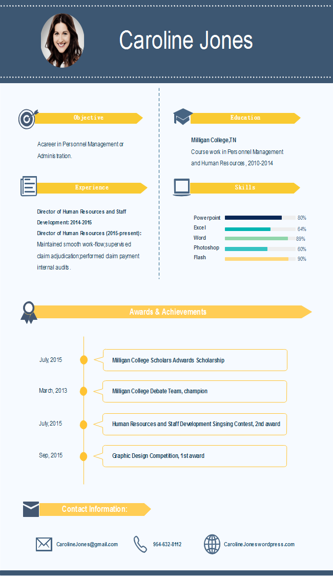 simple infographic resume