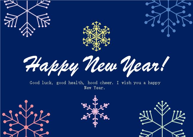 snowflake new year card