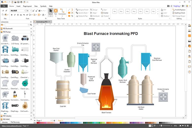 p&id PFD diagram
