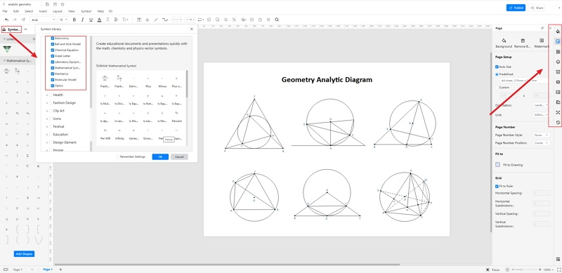 How to Create Analytic Geometry Online