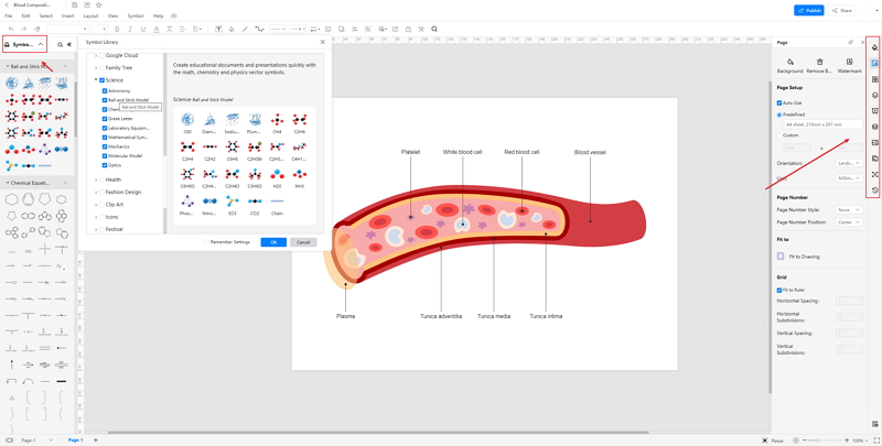 How to Create Blood Composition Drawing Online