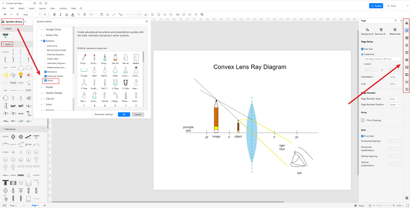 How to Create Convex Lens Ray Diagram Online