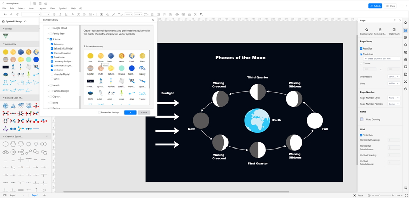 How to Create Moon Phases Online