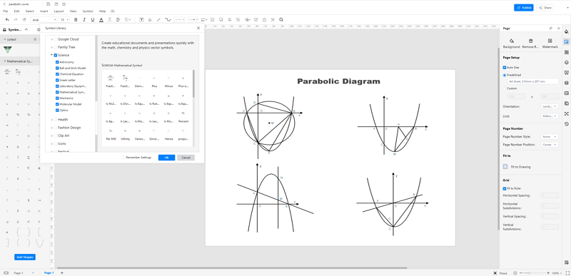 How to Create Parabolic Curve Online