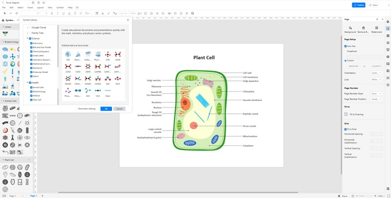 How to Create Plant Cell Diagram Online