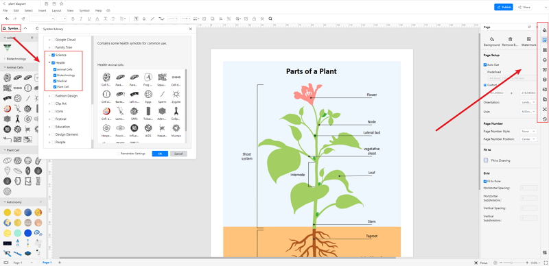 How to Create Plant Diagram Online