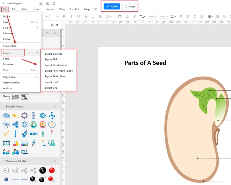 How to Create Seed Diagram Online