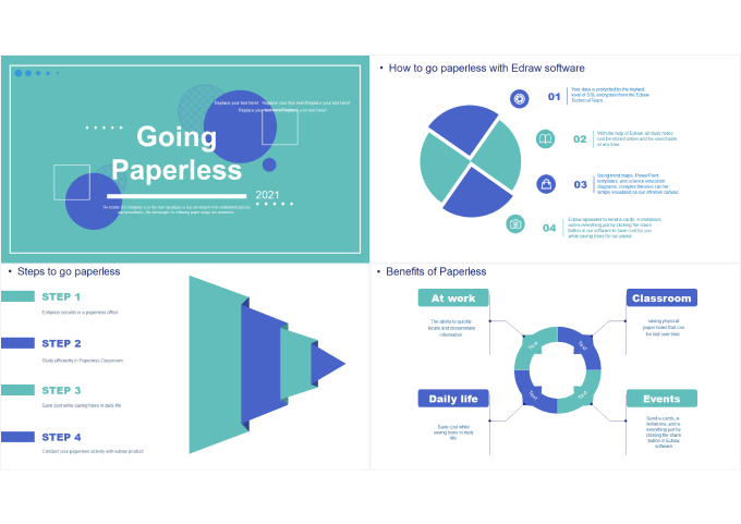 benefits of paperless presentation template