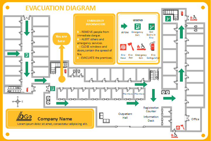 building design evacuation plan