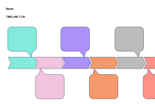 Blank Colorful Timeline Template