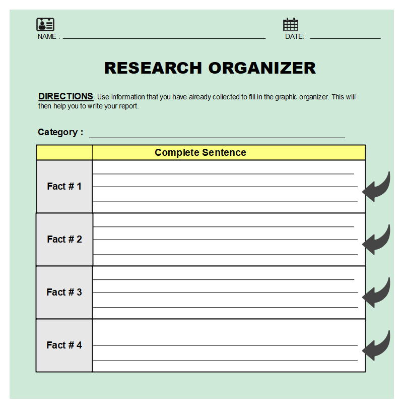 Graphic Organizer for Research Paper