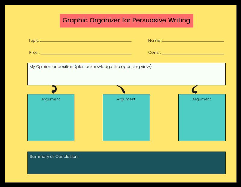 Graphic Organizer for Persuasive Writing