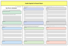 Graphic Organizer for Research Papers