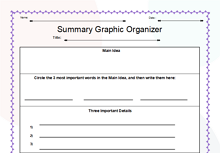 Writing a Summary Graphic Organizer