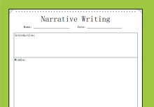 Narrative Writing Graphic Organizer Middle School
