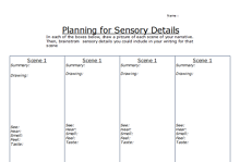 Narrative Writing Planning Graphic Organizer