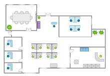 layout of the office