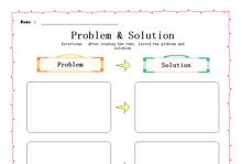 Problem & Solution Graphic Organizer