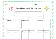 Problem and Solution Graphic Organizer Example