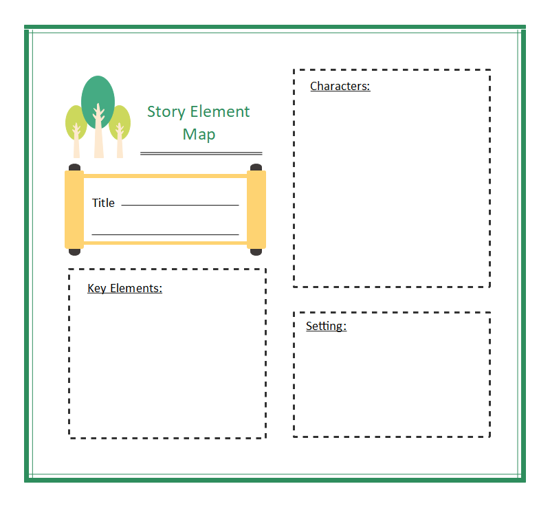 Story Elements Graphic Organizer For 1st Grade