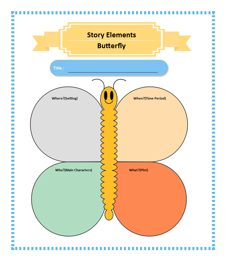 Butterfly Story Elements Graphic Organizer